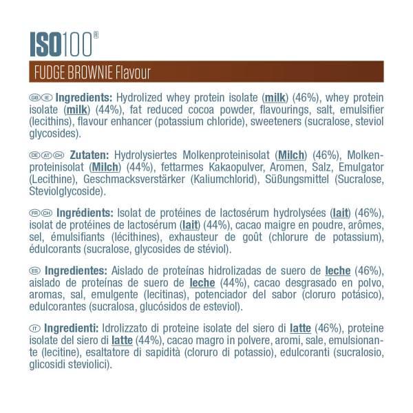 Etiquette ISO100