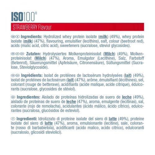 Etiquette ISO 100