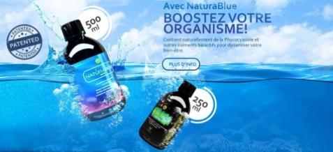 NaturaBlue® Lorsqu'on combine ensemble ces deux bienfaits de la nature que sont le camu camu et la spiruline, on obtient tout simplement le superaliment le plus riche disponible sur le marché.