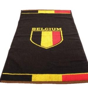 België handdoek Belgium Football 100 x 50 cm zwart