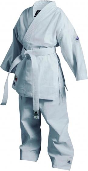 adidas karatepak K200 junior wit maat 100 110 cm