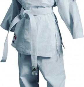 adidas karatepak K200 junior wit maat 120 130 cm