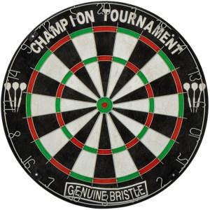 Abbey Darts dartbord Classic 45 x 3,5 cm sisal zwart/wit
