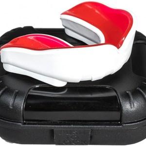 Makura gebitsbeschermer Ignis Pro junior siliconen wit/rood