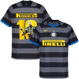 Inter Milan Vapor Match 3e Shirt 2020-2021 + Ronaldo 10 (Gallery Style)