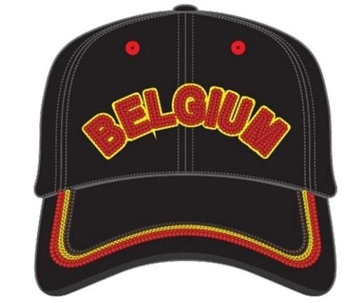 België supporterscap Belgium Football zwart one size