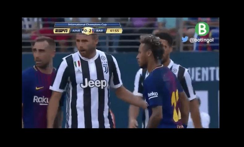 بالفيديو .. ماركيزيو يركل نيمار ثم يتشجار معه !