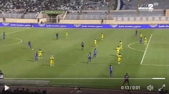 بالفيديو..لقطة غريبة للاعب فيصل مسرحي في مباراة الفتح والقادسية