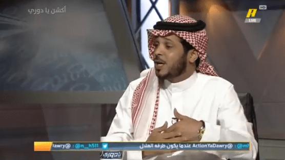 بالفيديو..محمد العميري: السيفين والنخلة ترمز للمملكة فلذلك طالبت بإزالتها من شعار الاهلي