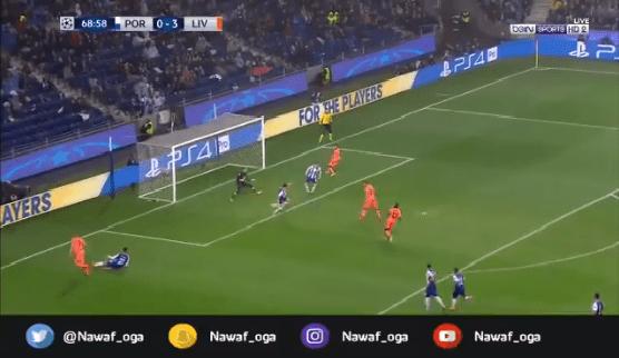 بالفيديو.. فيرمينو يحرز الهدف الرابع لليفربول في شباك بورتو