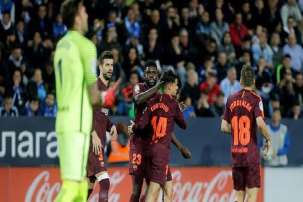 بالرغم من غياب ميسي.. بالفيديو:  برشلونة يحقق فوزًا سهلًا على ملقا في 13 دقيقة
