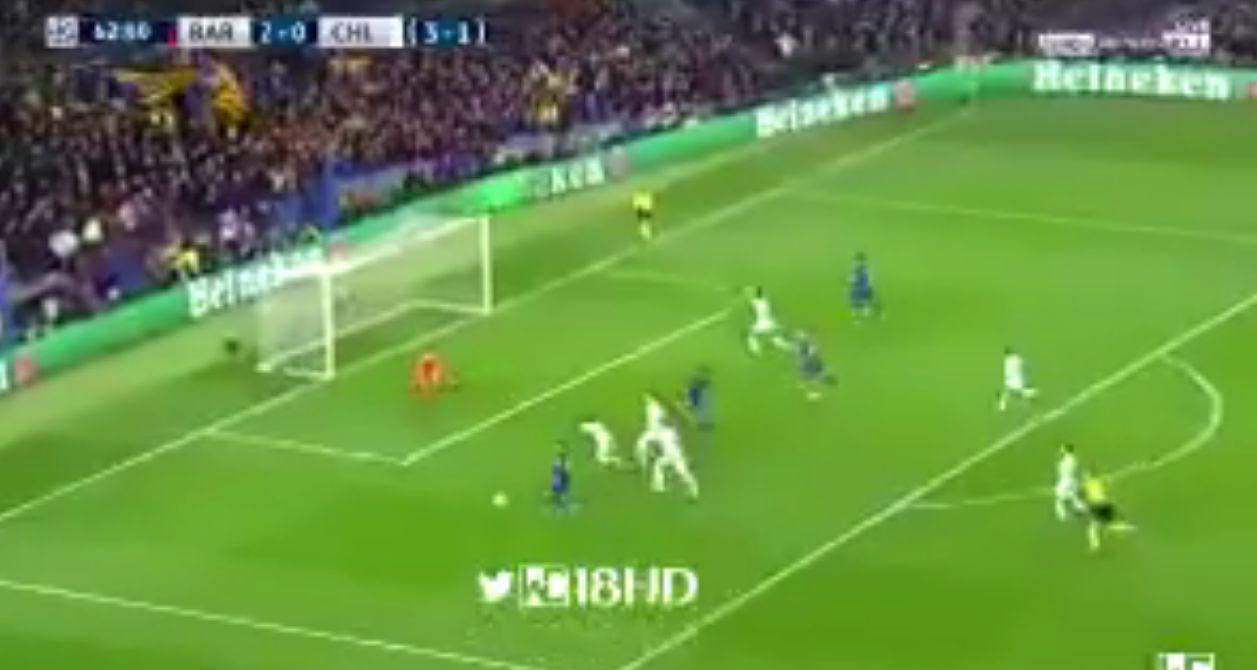 بالفيديو: ميسي يحرز الهدف الثالث لبرشلونة في شباك تشيلسي