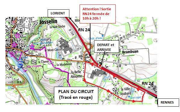Tracé circuit GP Josselin