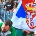 Srpska zastava na tribinama, SRBI GLAVNI AKTERI DERBIJA u TEL AVIVU! (VIDEO)