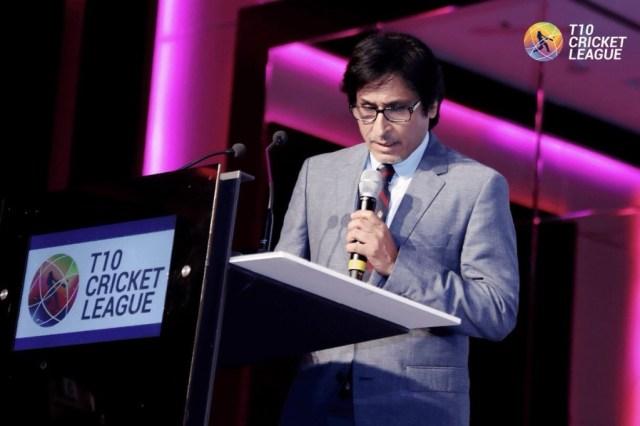 Rameez Raja at T10 League draft