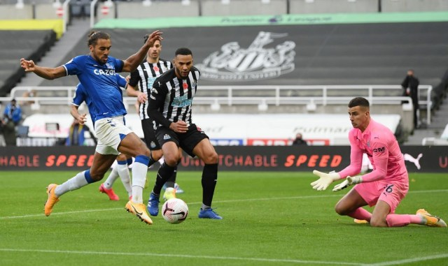 Dominic Calvert-Lewin scored his eighth goal of the season in Everton's defeat at Newcastle.