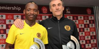 Khama Billiat and Giovanni Solinas