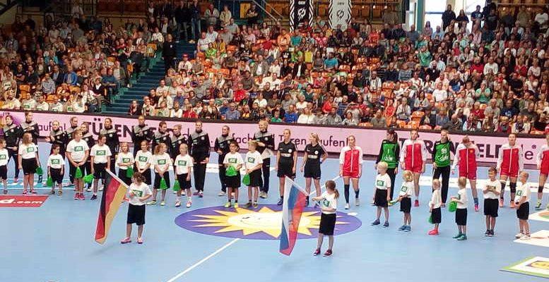 Handball EM 2018 Testspiel. Deutschland vs. Russland in Anhalt Arena Dessau. Foto: SPORT4FINAL