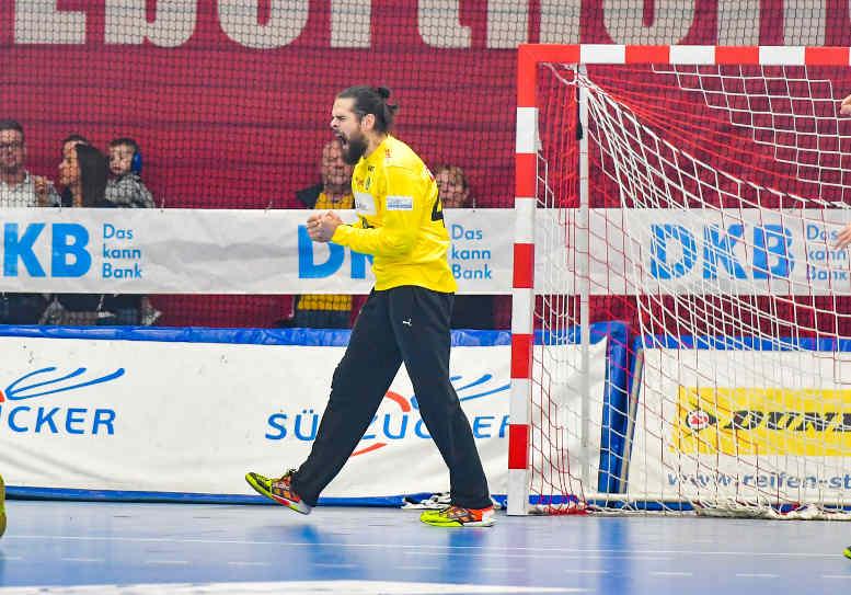 Milos Putera - SC DHfK Leipzig vs. Die Eulen Ludwigshafen - Handball Bundesliga am 18.11.2018 - Foto: Rainer Justen