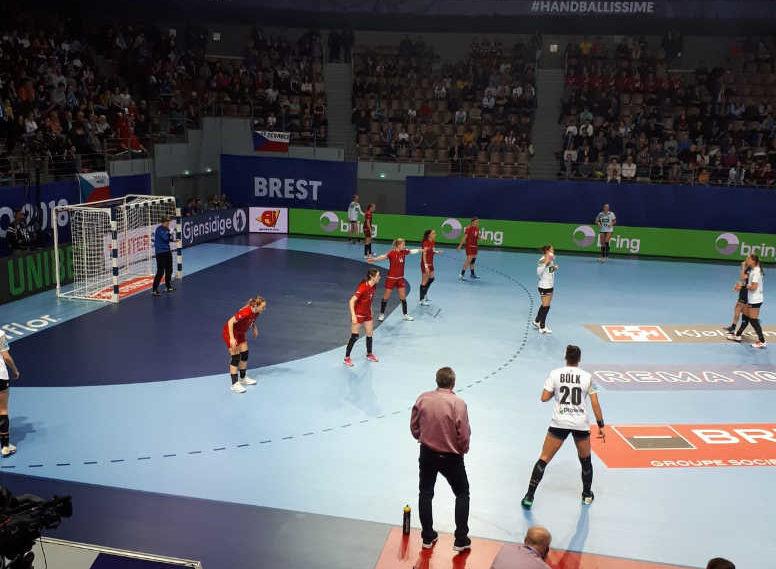 Handball EM 2018 - Deutschland vs. Tschechien - Brest am 05.12.2018 - Foto: DHB