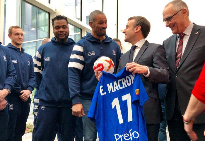 Handball WM 2019: Frankreich von Präsident Macron verabschiedet - © Copyright FFHandball - Alain Gadoffre