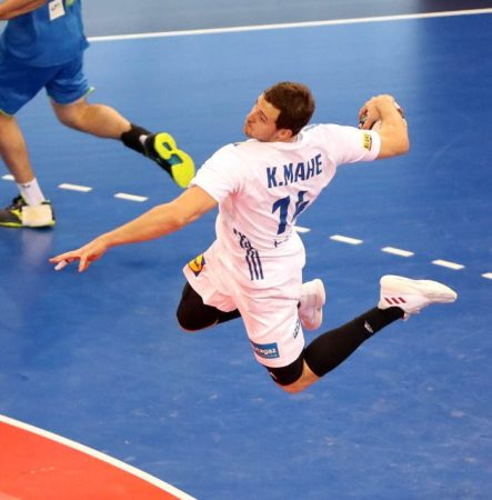 Handball WM 2019: Kentin Mahe - Testspiel Frankreich vs. Slowenien am 07.01.2019 in Rouen - Copyright: FFHandball / S. Pillaud