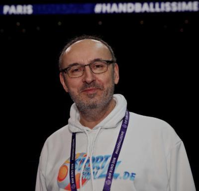 Frank Zepp - Handball EHF EURO 2018 Frankreich - AccorHotels Arena Paris - Foto: Joachim Schütz (http://www.stregspiller.com)
