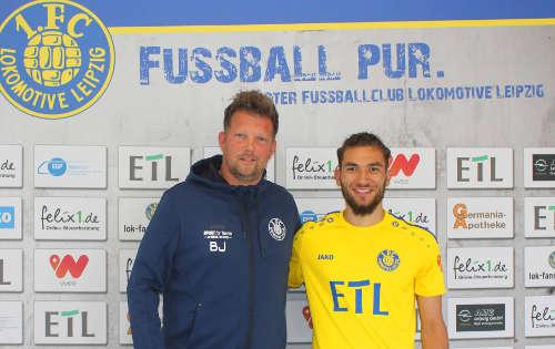 Romario Hajrulla und Björn Joppe (li.) - Foto: 1. FC Lok Leipzig
