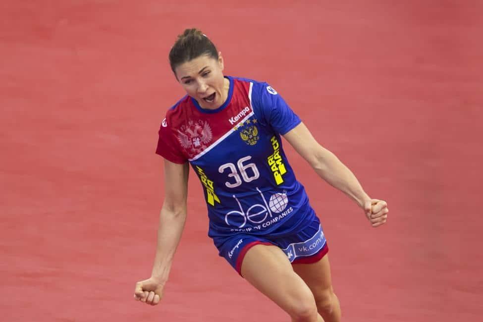 Handball WM 2019 - Russland vs. Montenegro - Julia Managarova - Copyright: IHF