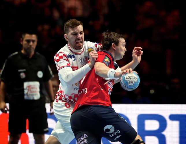 Handball EM 2020 - Sander Sagosen - Norwegen - Halbfinale gegen Kroatien - Foto: Joachim Schütz (http://www.stregspiller.com)