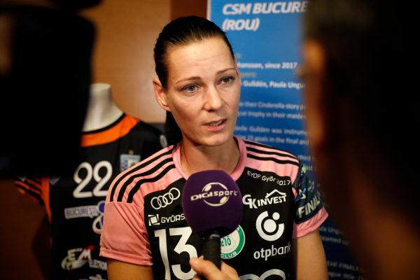 Anita Görbicz – Media Call – Handball EHF Champions League Final4: Stimmen vom Halbfinale – Foto: EHF Media / Uros Hocevar