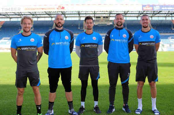 FC Hansa Rostock Mannschaftsrat Fußball Saison 2020-2021: Nils Butzen, Markus Kolke, Julian Riedel, John Verhoek, Damian Roßbach (v.l.n.r.) – Copyright: © F.C. Hansa Rostock