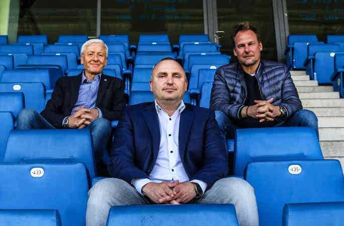 FC Hansa Rostock – Fußball Saison 2020-2021 – Vorstand Günter Fett, Robert Marien und Martin Pieckenhagen (v.l.n.r.) – © F.C. Hansa Rostock