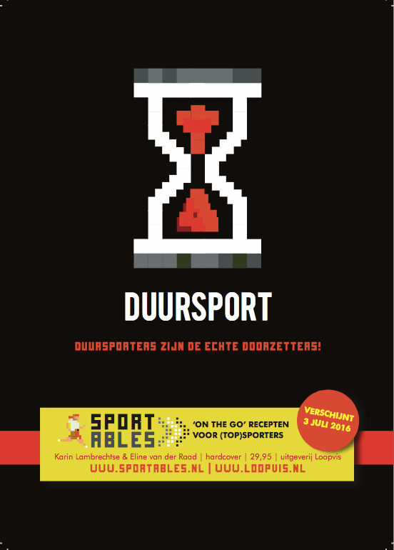 SPORTABLE duursport recept flyers Karin Lambrechtse sportvoedingskookboek 1