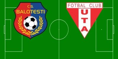 Livetext, ora 11.00: CS Balotești – UTA 1-0 din penalty