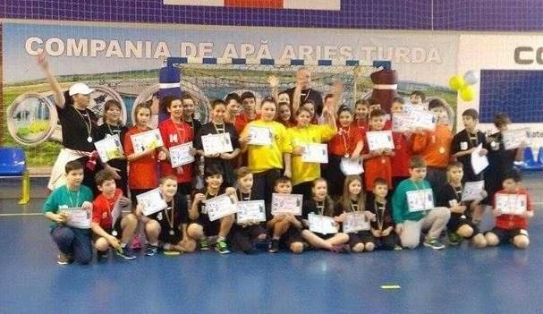 HC Beldiman a aliniat patru echipe la turneul de mini-handbal de la Turda