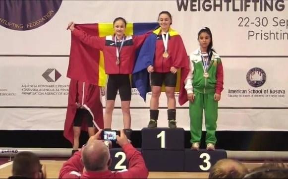 Halterofila Daniela Gărgar e dublă campioană europeană, Krupla a luat bronzul!