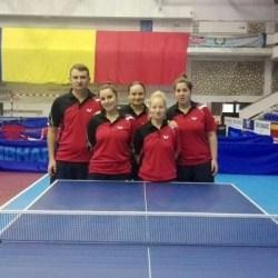 Echipa feminină de tenis de masă a CSM-ului, învinsă doar de campioana Dumbrăvița la primul turneu al Superligii