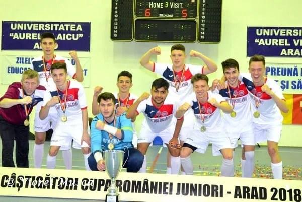 Aradul le-a purtat noroc juniorilor deveni: Autobergamo e noua deținătoare a Cupei României la futsal!