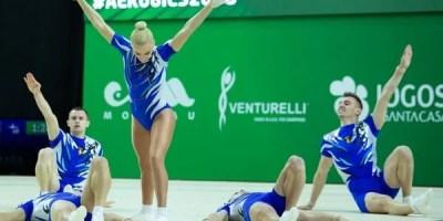 """""""Studentul"""" Bocșer – argint și bronz la """"mondialele"""" de aerobic din Portugalia"""