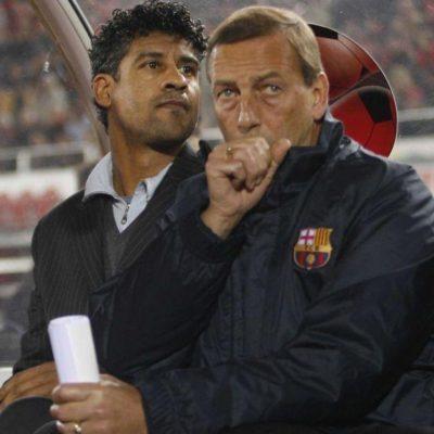 Franck Rijkaard / Neeskens -Real Majorque/ Barcelone - 05.01.2008 - Liga - foot football - largeur attitude entraineur coach