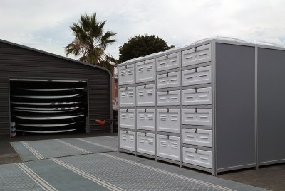 Sportbox with 19 doors for kayaks and Stand Up Paddleboards - San Rafael, USA