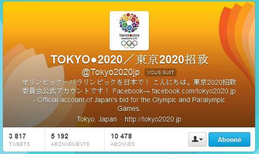 Tokyo 2020 - Twitter