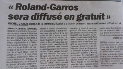 Roland Garros - droits TV