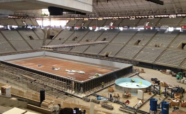 Installation de la piscine olympique - Palau Sant Jordi - Barcelona 2013 BCN