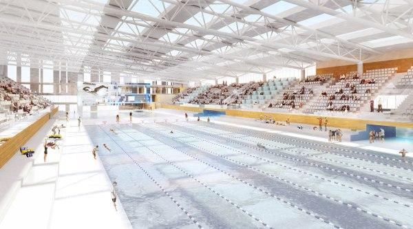 Centre Aquatique Olympique - projet - vue intérieure
