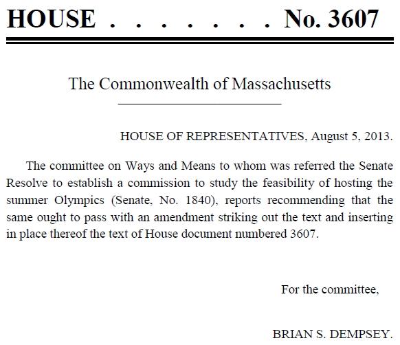 Amendement - Chambre des Représentants du Massachusetts - Boston 2024