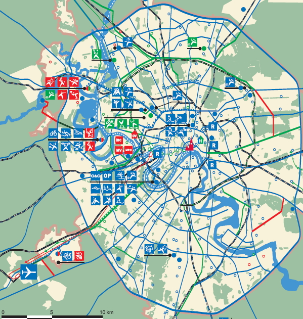 Carte du projet olympique - Moscou 2012
