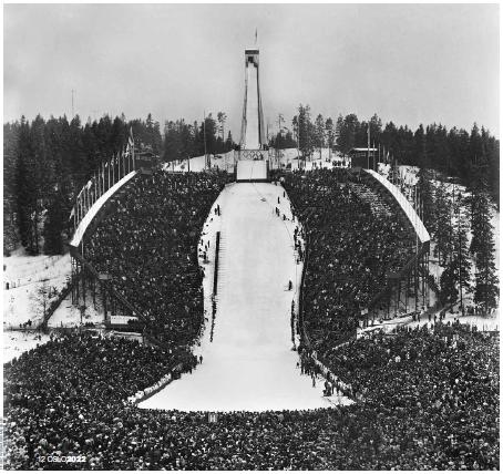 Tremplin de saut à ski - Holmenkollen - Oslo 1952