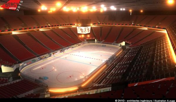 Bercy Arena - configuration patinoire